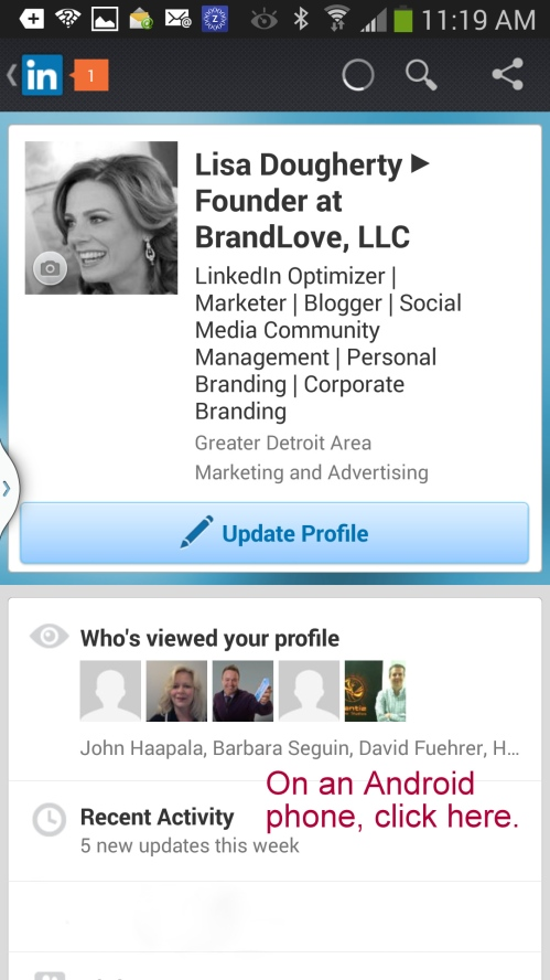 LinkedIn Android App Screenshot