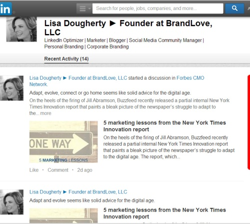 LinkedIn Activity Feed Is Back